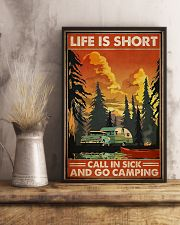 Call in sick n go camping Poster 11x17 Poster lifestyle-poster-3