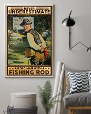 Fishing Never underestimate an old man Poster 11x17 Poster lifestyle-poster-1