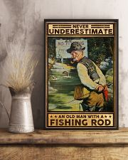 Fishing Never underestimate an old man Poster 11x17 Poster lifestyle-poster-3