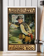 Fishing Never underestimate an old man Poster 11x17 Poster lifestyle-poster-4