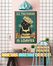 Cat All you knead is loaves poster 11x17 Poster lifestyle-poster-6