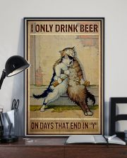 Cat Only drink beer on days that end with y 11x17 Poster lifestyle-poster-2