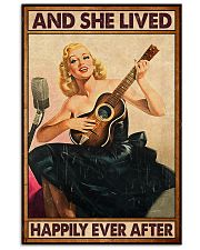 Guitar And she lived happily ever after Poster 11x17 Poster front