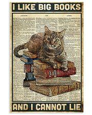 Cat I like big books 11x17 Poster front