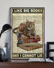 Cat I like big books 11x17 Poster lifestyle-poster-2