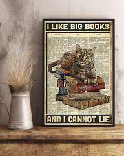 Cat I like big books 11x17 Poster lifestyle-poster-3