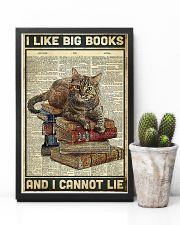 Cat I like big books 11x17 Poster lifestyle-poster-8