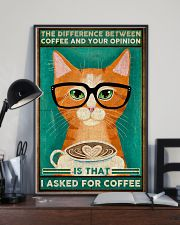 Cat coffee I asked for coffee Poster 11x17 Poster lifestyle-poster-2