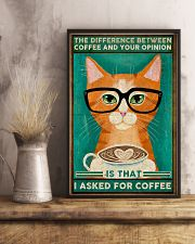 Cat coffee I asked for coffee Poster 11x17 Poster lifestyle-poster-3