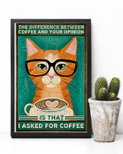 Cat coffee I asked for coffee Poster 11x17 Poster lifestyle-poster-8