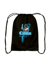 Cudlino Splattered Paint Logo Collection Drawstring Bag back