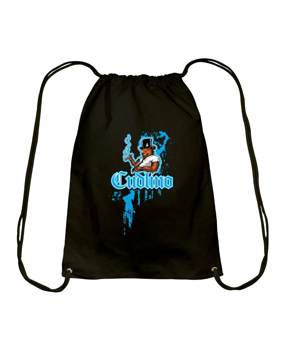Cudlino Splattered Paint Logo Collection Drawstring Bag
