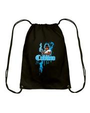 Cudlino Splattered Paint Logo Collection Drawstring Bag front