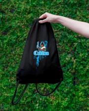 Cudlino Splattered Paint Logo Collection Drawstring Bag lifestyle-drawstringbag-front-3