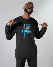 Cudlino Splattered Paint Logo Collection Long Sleeve Tee apparel-long-sleeve-tee-lifestyle-front-12