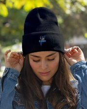 Cudlino Splattered Paint Logo Collection Knit Beanie garment-embroidery-beanie-lifestyle-07