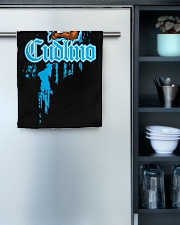 Cudlino Splattered Paint Logo Collection Hand Towel aos-towelhands-front-lifestyle-03