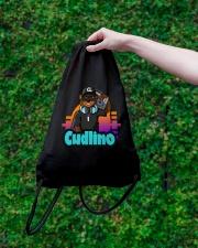 Music On Blast Collection Drawstring Bag lifestyle-drawstringbag-front-3