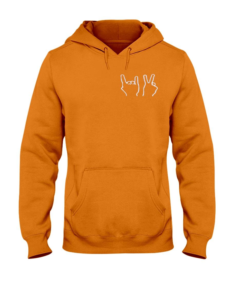 DT CREWNECK-Dolan Twins-Orange Hooded Sweatshirt