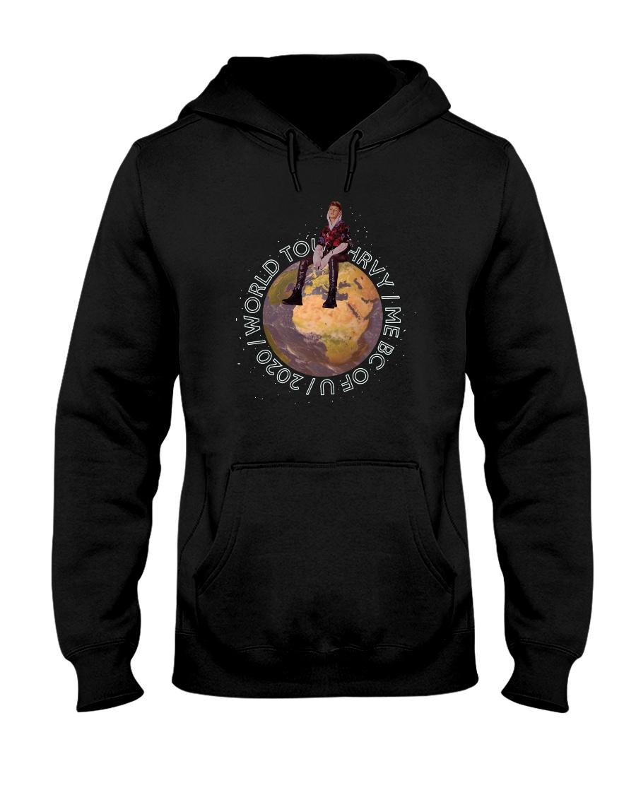 World Tours i me bc of you tee Hooded Sweatshirt