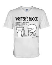 Writer's block - I'm a Writer V-Neck T-Shirt thumbnail