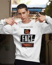 truth matters go fact yourself merch Crewneck Sweatshirt apparel-crewneck-sweatshirt-lifestyle-04