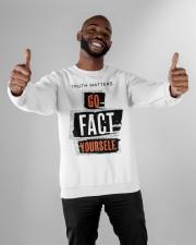 truth matters go fact yourself merch Crewneck Sweatshirt apparel-crewneck-sweatshirt-lifestyle-front-05