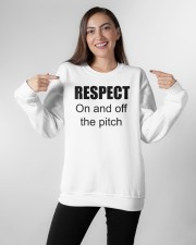 respect on and off the pitch merch Crewneck Sweatshirt apparel-crewneck-sweatshirt-lifestyle-front-11