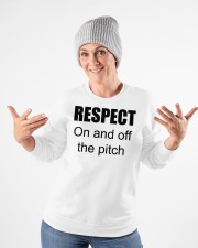 respect on and off the pitch merch Crewneck Sweatshirt apparel-crewneck-sweatshirt-lifestyle-front-35