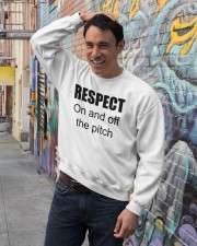 respect on and off the pitch merch Crewneck Sweatshirt lifestyle-unisex-sweatshirt-front-4