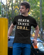 death taxes oral shirt Classic T-Shirt apparel-classic-tshirt-lifestyle-front-44