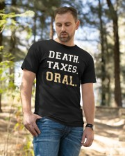 death taxes oral shirt Classic T-Shirt apparel-classic-tshirt-lifestyle-front-49