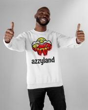 azzyland merch Crewneck Sweatshirt apparel-crewneck-sweatshirt-lifestyle-front-05