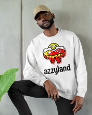 azzyland merch Crewneck Sweatshirt apparel-crewneck-sweatshirt-lifestyle-front-08