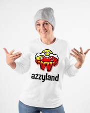 azzyland merch Crewneck Sweatshirt apparel-crewneck-sweatshirt-lifestyle-front-35
