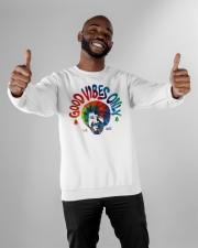 good vibes only merch Crewneck Sweatshirt apparel-crewneck-sweatshirt-lifestyle-front-05