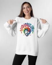 good vibes only merch Crewneck Sweatshirt apparel-crewneck-sweatshirt-lifestyle-front-11