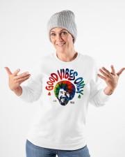 good vibes only merch Crewneck Sweatshirt apparel-crewneck-sweatshirt-lifestyle-front-35