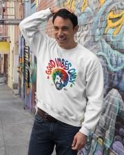 good vibes only merch Crewneck Sweatshirt lifestyle-unisex-sweatshirt-front-4