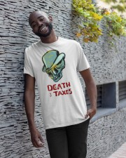death taxes oral t shirt Classic T-Shirt apparel-classic-tshirt-lifestyle-front-33