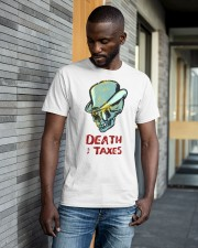 death taxes oral t shirt Classic T-Shirt apparel-classic-tshirt-lifestyle-front-41-b