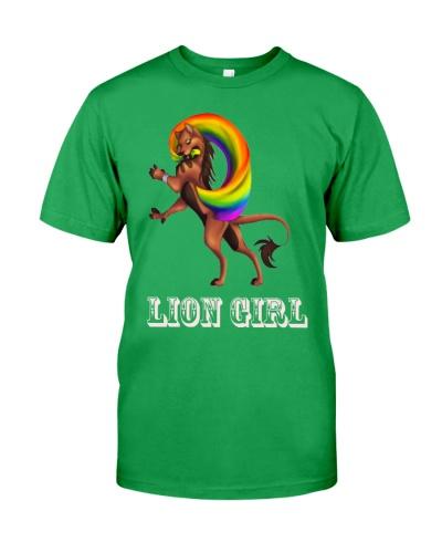 LION GIRL LGBT LESBIA SHIRT