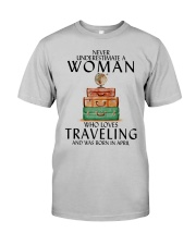 Woman Traveling April Classic T-Shirt front