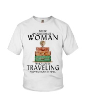Woman Traveling April Youth T-Shirt tile