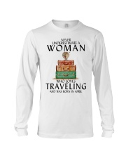 Woman Traveling April Long Sleeve Tee tile
