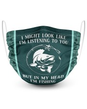 I Might Look Like I'm Listening To You-Fishing 2 Layer Face Mask - Single front