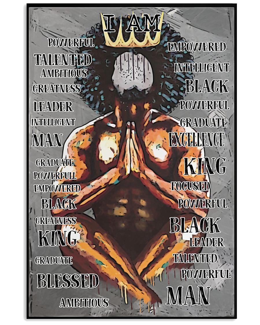 Black King Praying I'm Powerful 24x36 Poster