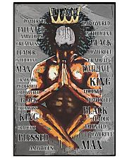 Black King Praying I'm Powerful 24x36 Poster front