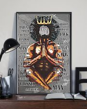 Black King Praying I'm Powerful 24x36 Poster lifestyle-poster-2
