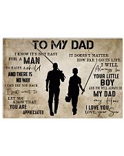 To My Dad From Son Fishing 24x16 Poster front